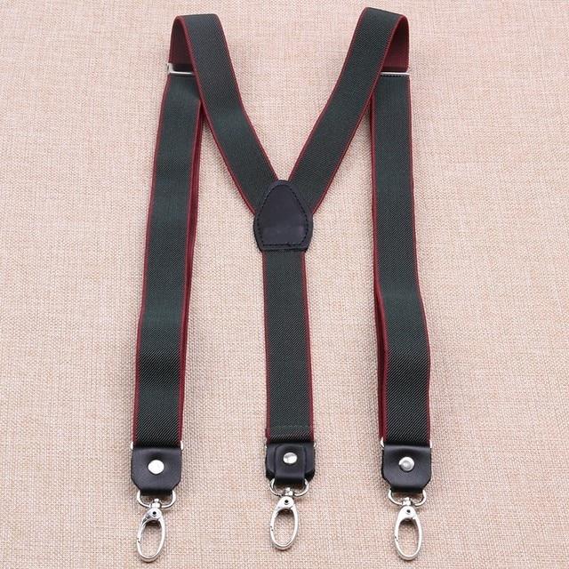 Multi Colour Mustache 25mm Adjustable Slim Unisex Mens Ladies Elastic Trouser Braces Suspenders Clip On for Fancy Dress
