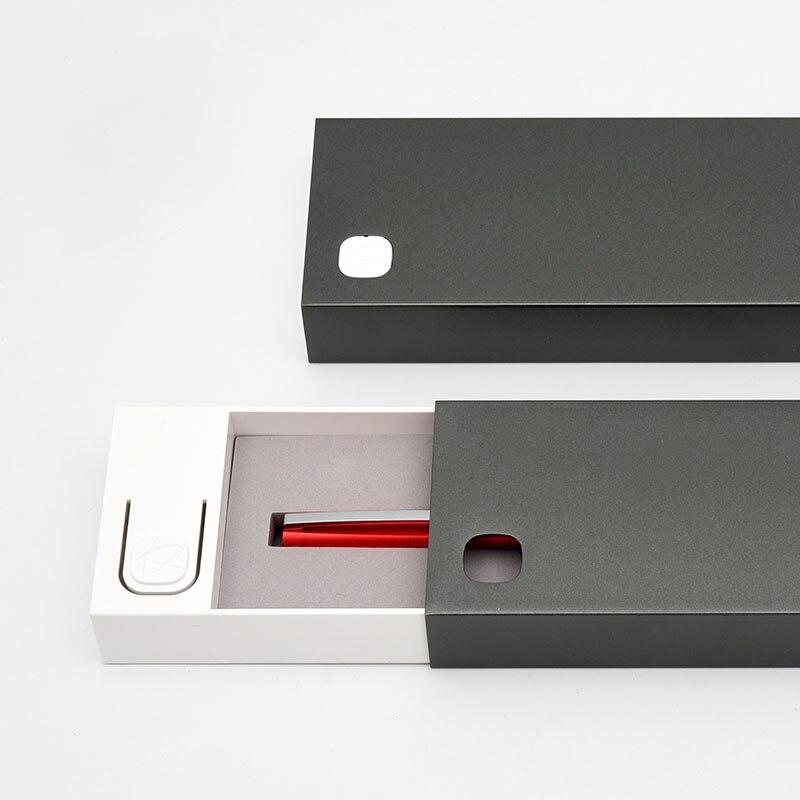 KACO SQUARE Aluminum Four Sides Fountain Pen with Iron Box Schmidt Converter New