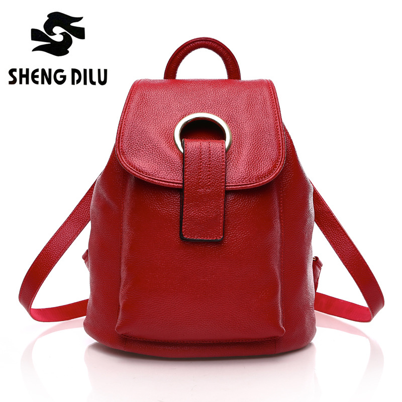 New Japan And Korean Backpacks For Fashion Women High Quality Genuine Leather Girl's Bags fabra 2017 new korean backpacks fashion