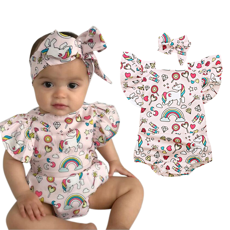 Newborn Baby Girl Boy Dragonfly Tribal RomperBodysuit Jumpsuit Short Sleeved Bodysuit Tops Clothes