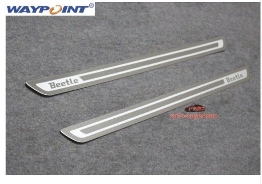 Door sill scuff plate For VW Beetle 2012 2013 2014 2015 2016 2017Door sill scuff plate For VW Beetle 2012 2013 2014 2015 2016 2017