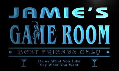 x0233-tm Jamies VIP Lounge Game Room Custom Personalized Name Neon Sign Wholesale Dropshipping On/Off Switch 7 Colors DHL