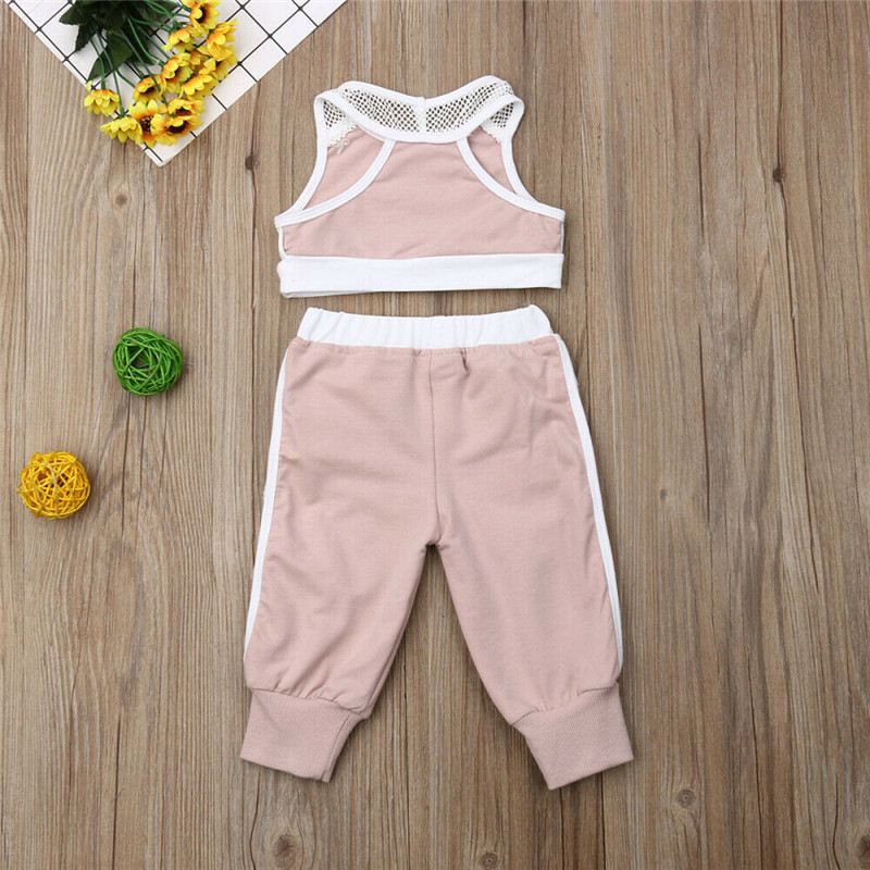 Summer 2pcs Outfits 2019 Pudcoco Newborn Infant Baby Girl Clothes Crop Tops Vest Long Pants Tracksuits baby girl Clothing 2