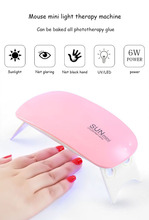6W Nail Dryer LED UV Lamp Micro USB Gel Varnish Curing Machine For Lamps цены