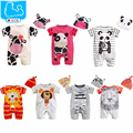 Christmas Baby Rompers Summer Baby Girl Clothing Sets Short Sleeve Newborn Baby Clothes Roupas Infant Jumpsuits Baby Boy Clothes