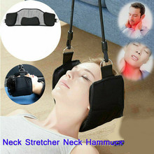 1 Set Polyester Neck Hammock Cervical Traction Belt Head Stretcher With Bungee Cord Hook Clip for Head Relief Neck Shoulder Pain цена