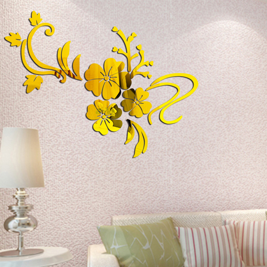 Fancy Flower Mirror Wall Art Photo - Art & Wall Decor - hecatalog.info