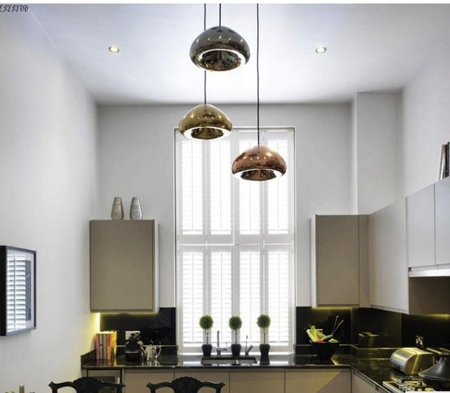 1a6bffd76b2 Tom Dixon Pendant Lights fixtures For bedroom D 5.9   Void Copper Brass  Bowl Mirror Glass Pendant Lamps Hanging G4 Fashion Lamps