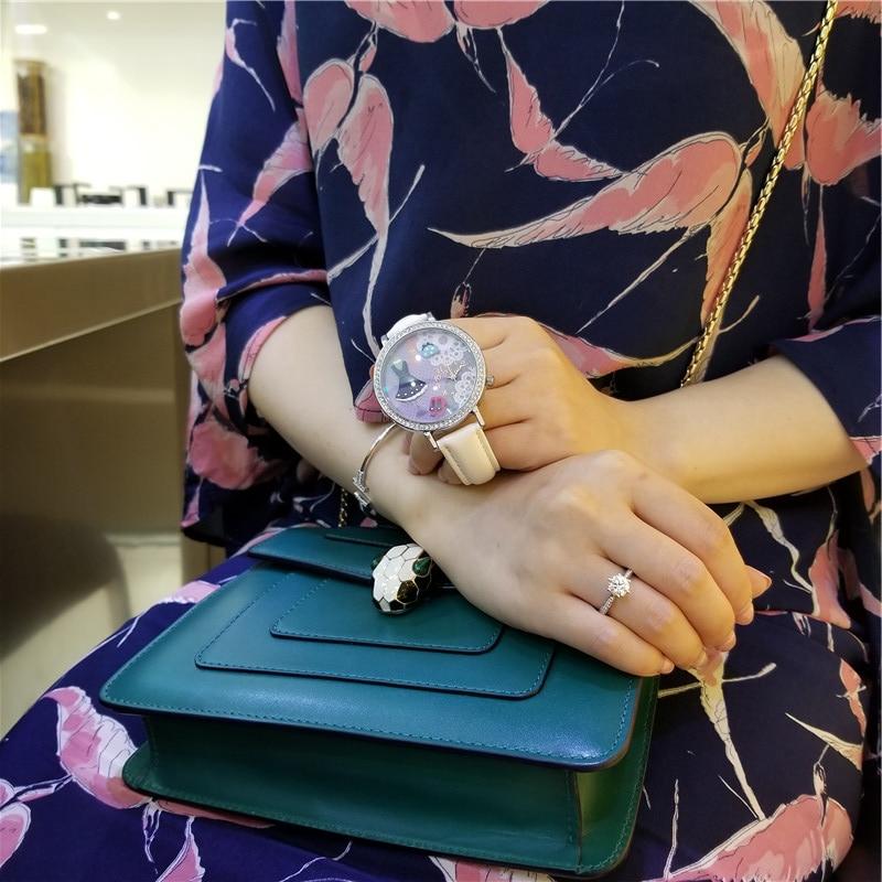 MISS KEKE klei schattige 3D mini wereld meisjesjurk Strass horloges - Herenhorloges - Foto 2