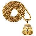Мужская Позолоченный Крест Древний Египет Король Ожерелье Египетский Фараон Кулон Цепи Хип-Хоп Ювелирные Изделия Новый Год Подарки