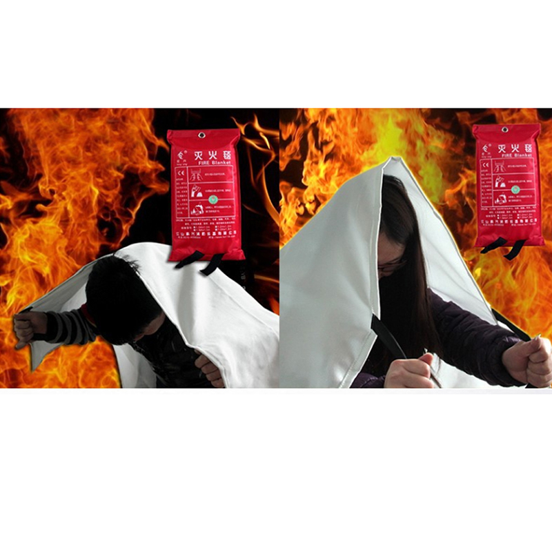 1.5*1.5m Durable Fire Blanket Shelter Safety Fire Protection Home Hotel Office Outdoor Sports Emergency Survival Security Tool