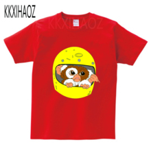 все цены на Fashion Print Gremlins Gizmo Children Funny T shirt Kids Summer Short Sleeve Tees Boys/Girls Casual Tops Baby Clothes MJ