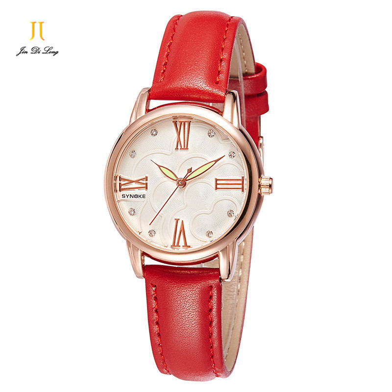 Brand Fashion Elegant Ladies Casual Dress Watch Women Quartz Women's Leather Strap Watches Waterproof Relogio Feminino