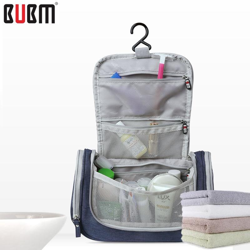 BUBM SACO de artigos de higiene pessoal bolsa de maquiagem saco receber bolsa de viagem saco de roupas saco de grande capacidade, azul cinza, rosa 2 estilo 2 tamanho S L à prova d' água
