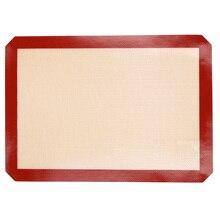 Antiadherente de Silicona Para Hornear Mat Pad, 42*29.5 cm Bandeja de horno Rolling Dough Mat De Fibra De Vidrio, de gran Tamaño de La Torta de Galletas Macaron