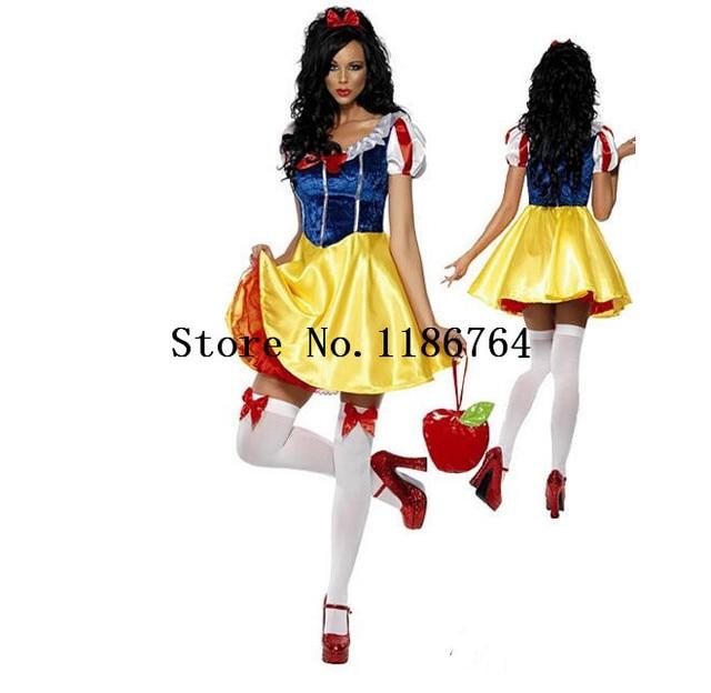 ae8110180052a2 R$ 79.86 8% de desconto|Vestido de festa Fantasia Vestido Adulto Traje  Cosplay Trajes de Halloween Para As Mulheres Fantasia Branca de Neve  Princesa ...