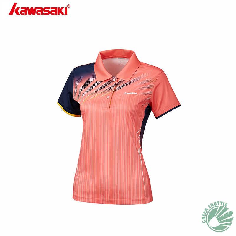 Novedad de 2019 camisas Unisex Kawasaki con Material de función de cuello bádminton ropa de secado rápido para amantes