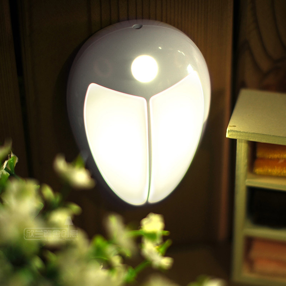 Mini Wireless Infrared Motion Sensor Baby LED Night Light Wall Lamp for Bedroom Hallway Cabinet Stairwells Kitchen Closet P25