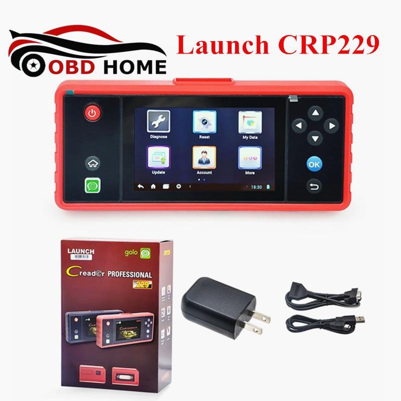 Новое поступление Профессиональный сканер Старт Creader crp229 OBD2 полный Диагностический Сканер CRP 229 обновление Интернет Wi-Fi Быстрая доставка