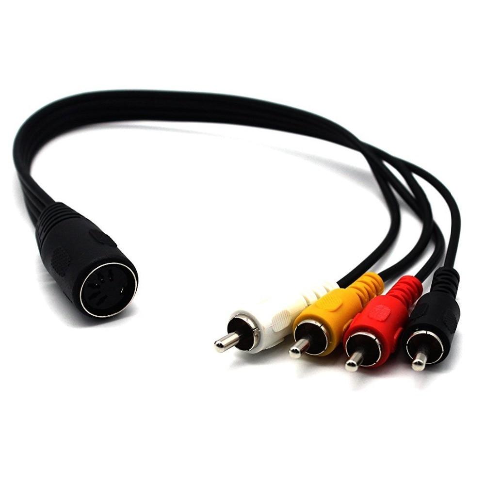 5 Pin Weiblich Din Stecker auf 4 x Cinch stecker Stecker Audio ...
