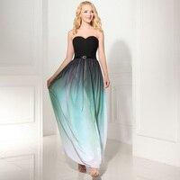 vestido madrinha Hot SALE Chiffon V neck A line 2 style gradient Mint green bridesmaid dresses long cheap wedding party dress