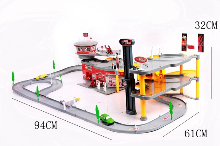 New Hot Large toy car parking city fire center childrens educational toy for boys gift Kids Toys for children brinquedos