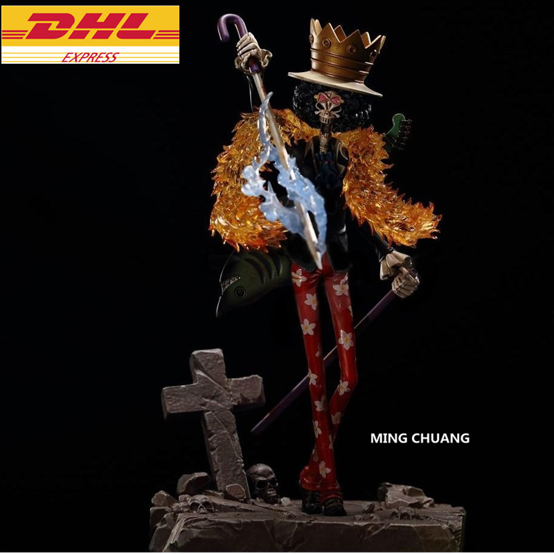 9ONE PIECE Statue The straw hat Pirates BROOK Bust Monkey D. Luffy Partner GK Action Figure Collectible Model Toy BOX D651 9statue one piece monkey d luffy bust the straw hat pirates gk action figure collectible model toy box d616