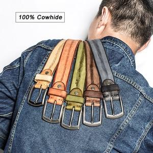 Image 2 - MEDYLA erkekler kemer alaşım Pin toka gelişmiş deri kemer kot rahat orijinal dana kemer gençlik kemer el yapımı MD567