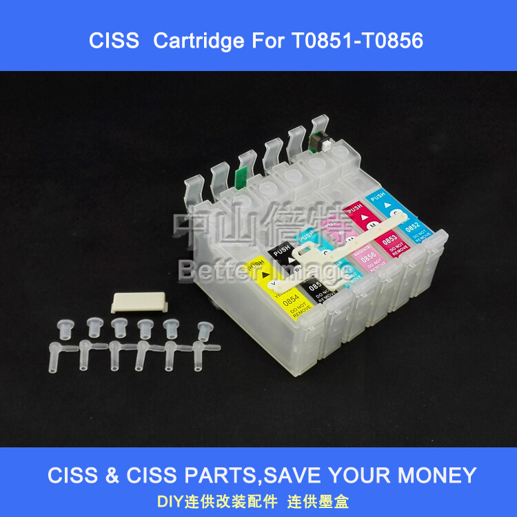 INK WAY 5 Sets of CISS ink cartridge for T0851 T0852 T0853 T0854 T0855 T0856 suitable for Epson Stylus photo 1390