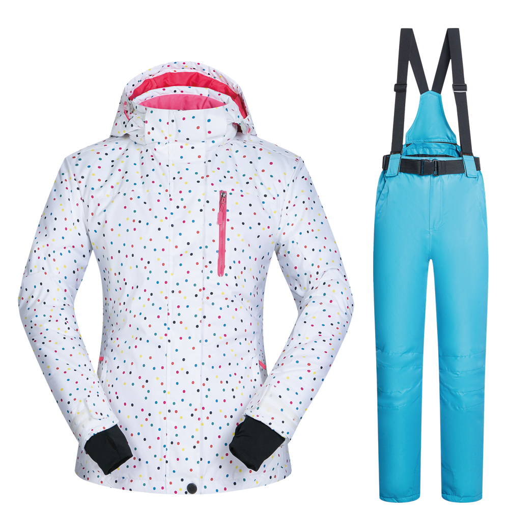 Snowboard costumes femmes vêtements veste de Ski et pantalon neige ensembles BDD extérieur coupe-vent imperméable vêtements hiver Ski costume marques - 5