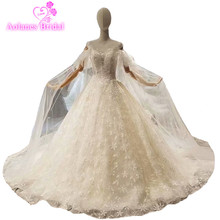 AOLANES Sleeveless Bridal Gowns Ball Gown Wedding Dresses