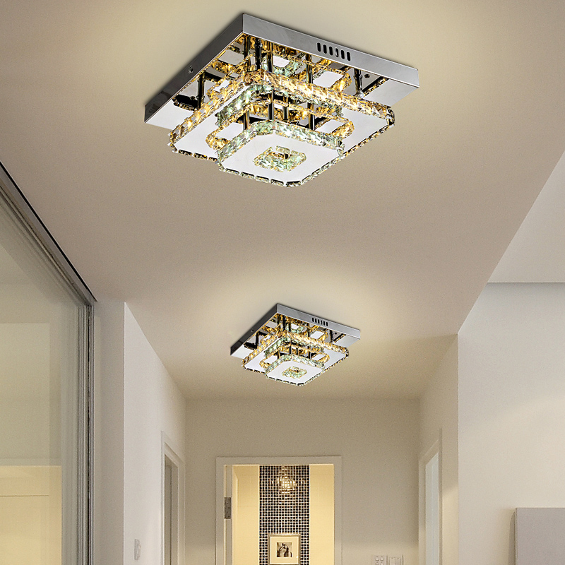 Modern Crystal LED ceiling light Fixture For Indoor Lamp lamparas de techo Surface Mounting Ceiling Lamp For Bedroom-in Ceiling Lights from Lights & Lighting