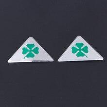 3 шт. для Alfa Romeo четырехлистник зеленый Delta для Alfa 147 156 166 159 GT боковые зеркала автомобиля брызговик эмблемы Стикеры Алюминий+ ПВХ