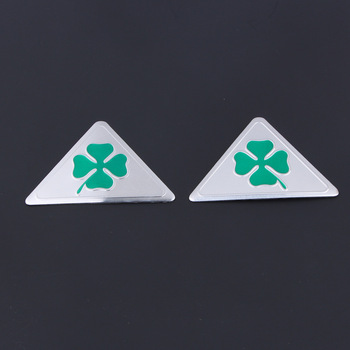 3Pcs Per Alfa Romeo Quadrifoglio Verde Delta Per Alfa 147 156 166 159 GT Auto Lato Splash Guard Emblema badge Sticker Alluminio + PVC