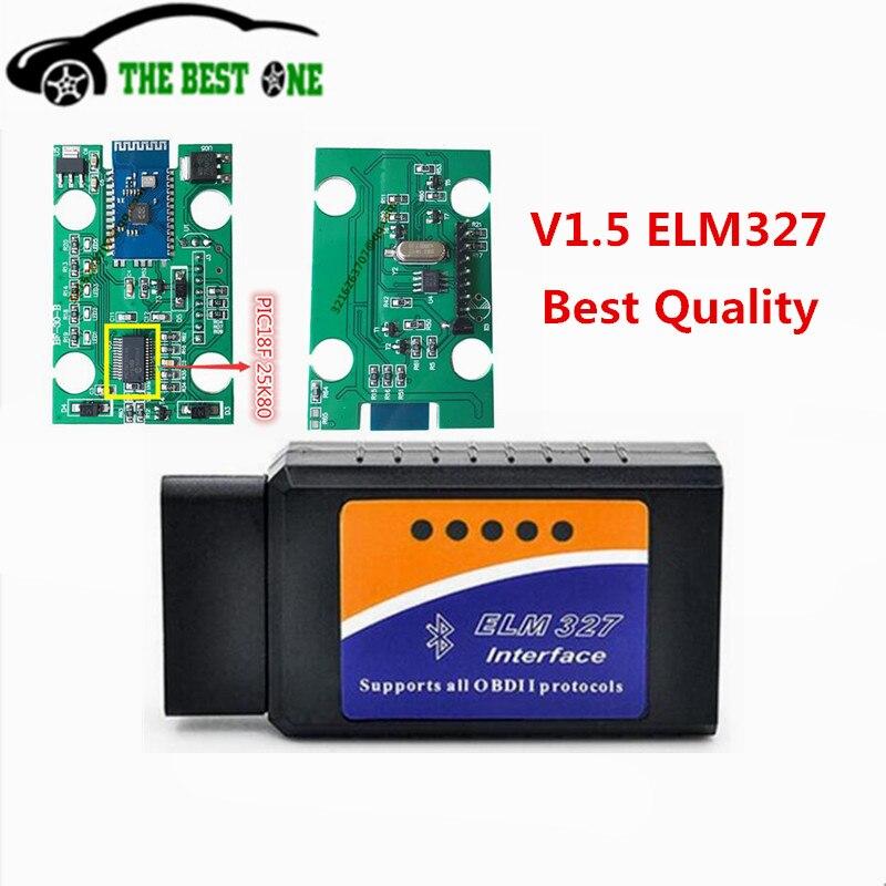 Prix pour Super Mini ELM327 OBD2 Lecteur de Code ELM 327 OBD2 Interface Soutien Mult-langues Tous Les Protocoles OBD2 Pour Multi-marques ELM 327