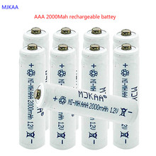 10pcs/lot New AAA 2000mAh NI-MH 1.2V Rechargeable Battery 3A rechargeable battery for camera,toys