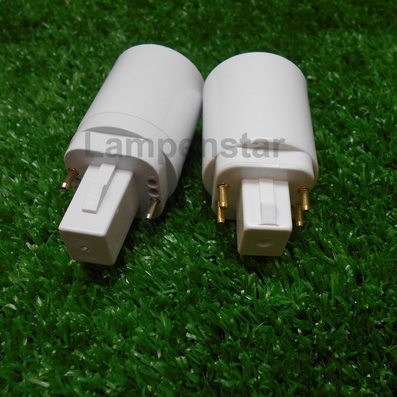 led g24 to e27 Socket Base Halogen CFL Light Lamp adapter converter e27 to g24 bulb holder adapter 2pin 4pins 85-220V