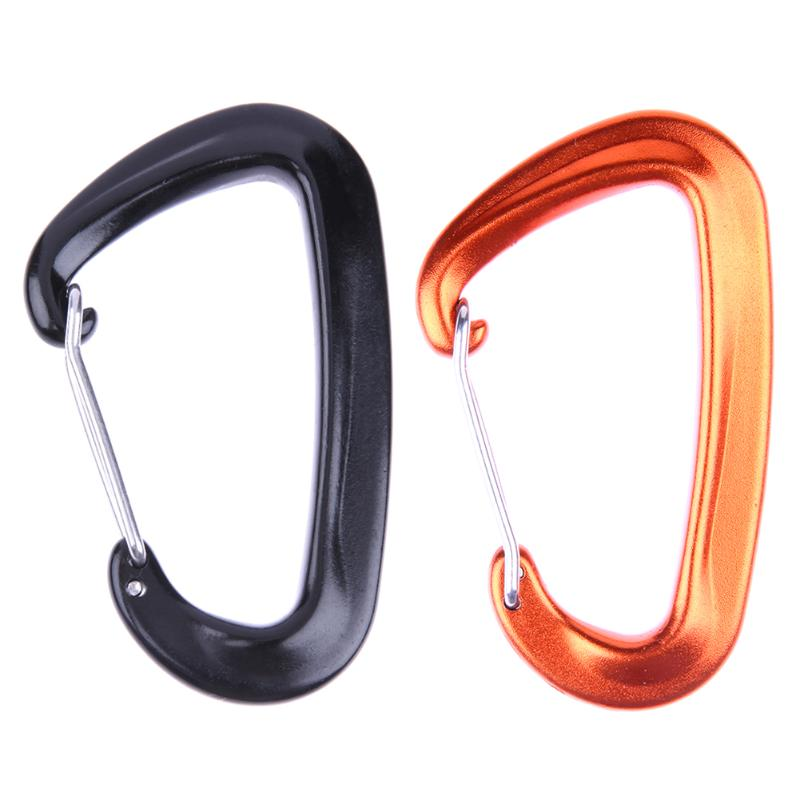 1Pcs D-shaped Mini Carabiner for keys Metal Aluminum Snap Spring Clips Hook EDC Outdoor Camping Multi Tool Travel Survival Kit
