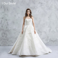 Ball Gown Luxury Wedding Dresses Strapless Bridal Gown Real Photo