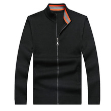 9XL 8XL 6XL 5XL männer Pullover Winter Warm Dicken Samt Sweatercoat Reißverschluss Kragen Beiläufige Strickjacke Männer Pullover Muster Strickwaren
