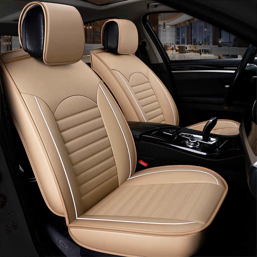 Image 3 - KKMOON Universal 1pc PU Leather Car auto Seat Cover car styling Accessories Cushion autocovers with Tire Track for cars styling-in Automobiles Seat Covers from Automobiles & Motorcycles