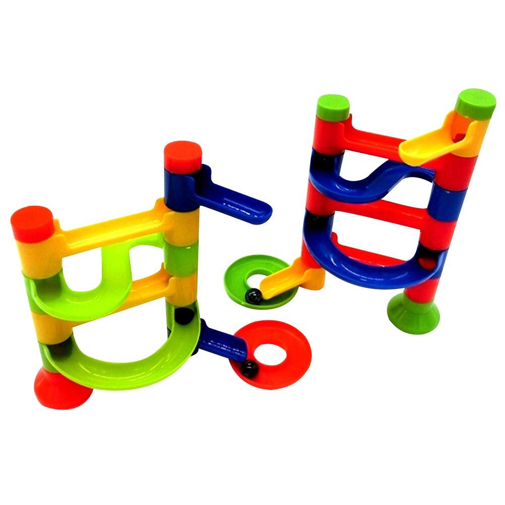 1 Pc Kraal Run Speelgoed Kinderen Diy Bouwstenen Onderwijs Bal Track Run Race Game Toren Bouw Speelgoed Voor Kinderen Willekeurige Minder Duur