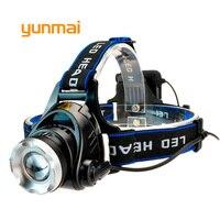 yunmai Power Led Headlight Waterproof Headlamp 4000 lumen NEW xml t6 Head Lamp Torch use 4 AA Battery Hunting Fishing Light