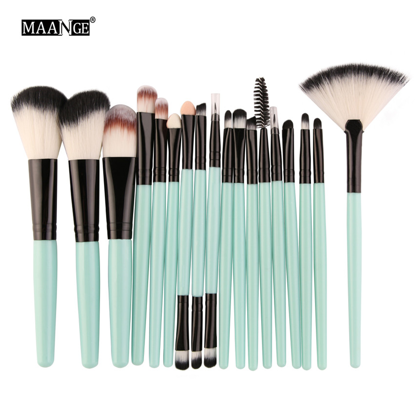18Pcs/lot Brand Brushes Makeup Brush Set maquiagem Cosmetics Power Foundation Blush Eye Shadow Blending Fan Make Up Kits Beauty 5