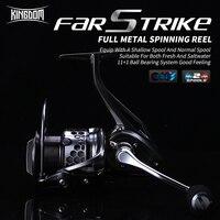 Kingdom New FAR STRIKE II Spinning Fishing Reel Two Spools 11+1BB 5.21 All metal Spinning Fishing Reels FIR FL1500 FL2000 FL3000