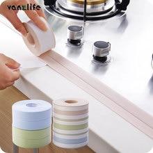 PVC waterproof mildew proof adhesive tape, kitchen sink joint crevice sticker, corner line sticking strip