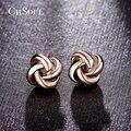 CHSOUL Rose Plateó Los Pendientes del Diseño Clásico Nudo del Amor Mensaje Stud Boucle D'oreille Joyería