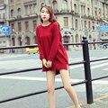 ALKMENE Asymmetric Wool Women Oversize Swaeter Casual Long Sleeve O Neck Women Sweater and Pullover Comfortable Loose Pullover