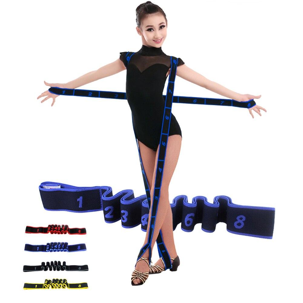 Yoga Pull Rope Resistance Bands Professional Gymnastics Adult Kids Training Fitness Elastic Bands Pilates Fitness Equipment