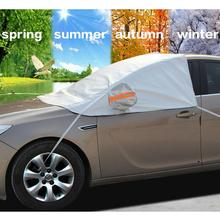 Auto Vehicle Car Covers Car Styling Front Windscreen Cover For Frost Sun Shade Anti-UV Waterproof Snow Protection Shield Tarp